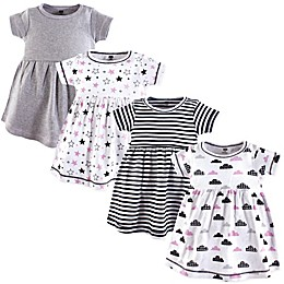 Hudson Baby® Stars & Clouds 4-Pack Dresses