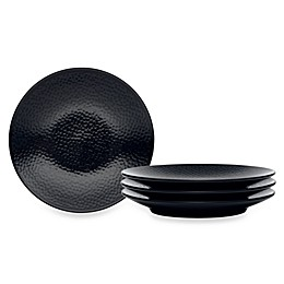 Noritake® Black on Black Snow Round Appetizer Plates (Set of 4)