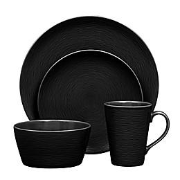 Noritake® Black on Black Swirl Round Dinnerware Collection
