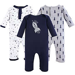 Yoga Sprout 3-Pack Spaceship Union Suit in Blue