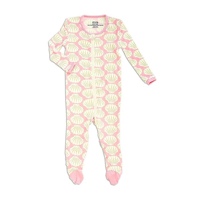 Alternate image 1 for Silkberry Baby® Seashell Footie in Pink