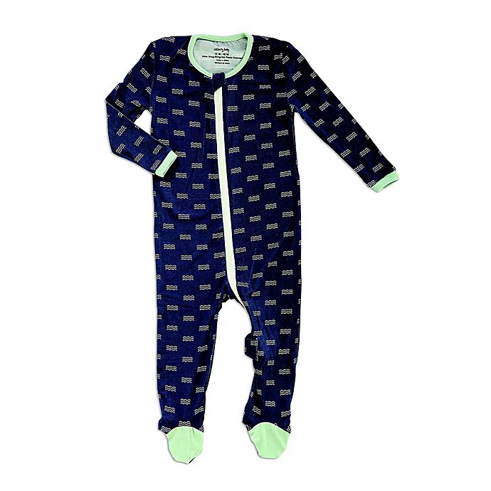 Alternate image 1 for Silkberry Baby® Waves Footed Sleeper