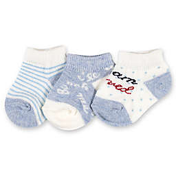 Ellen DeGeneres™ 3-Pack Love Baby Socks in Blue