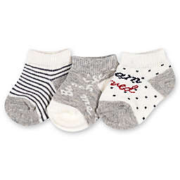 Ellen DeGeneres™ 3-Pack Love Baby Socks in Grey