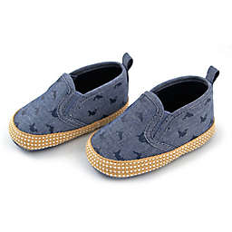 Rising Star™ Chambray Whale Soft Sole Shoes in Blue