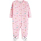 carter's® Size 3M Unicorn Sleep N' Play Footie in Light Pink
