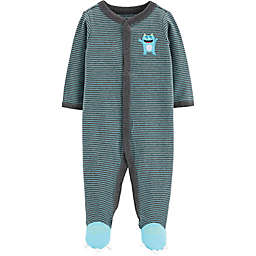 carter's® Snap-Front Monster Sleep & Play Footie in Turquoise