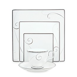 Noritake® Platinum Wave Square Dinnerware Collection