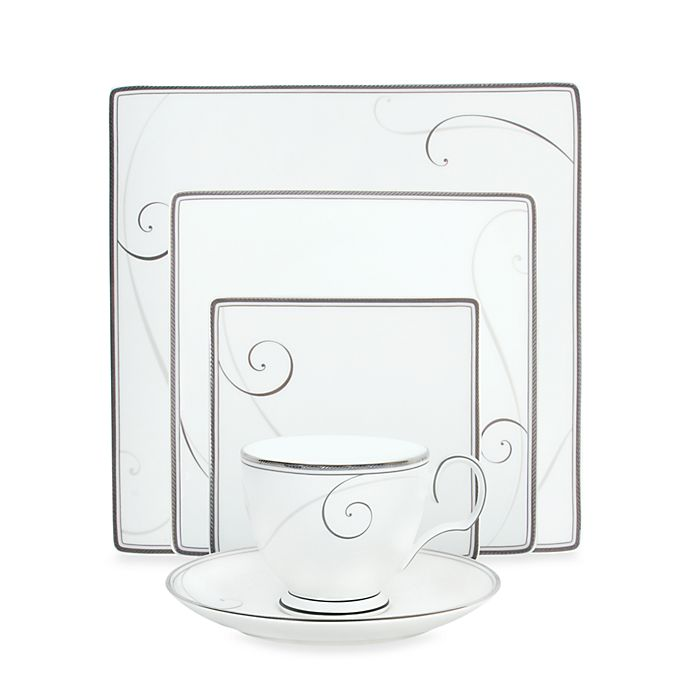 Alternate image 1 for Noritake® Platinum Wave Square Dinnerware Collection