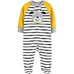 carter's® Newborn Zip-Front Dog Sleep & Play Footie in Yellow
