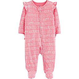carter's® Slogan Sleep N' Play Footie in Pink