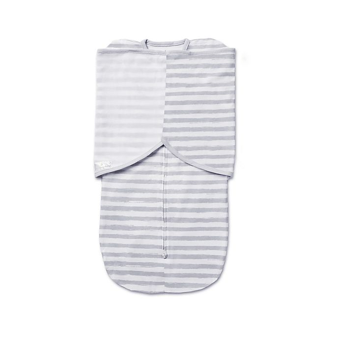 Alternate image 1 for BreathableBaby® Swaddle Trio in Grey Stripe