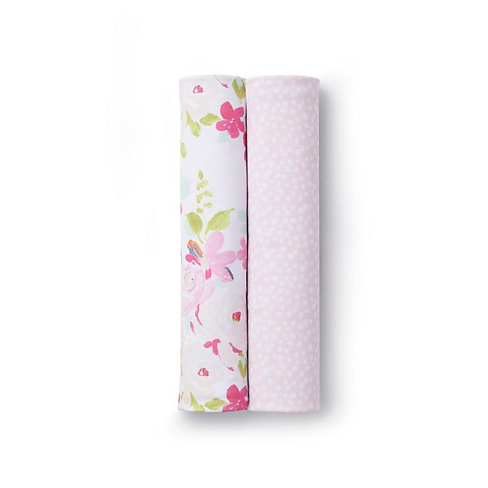 Alternate image 1 for BreathableBaby® 2-Pack Active Swaddle Blankets in Pink Bloom and Pink Dots
