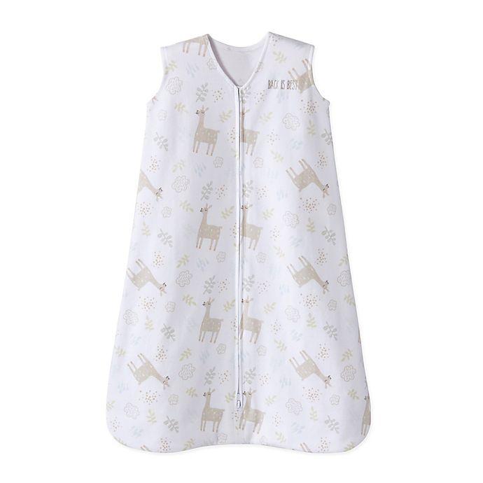 Alternate image 1 for HALO® SleepSack® Medium Wearable Blanket in Sand Llama