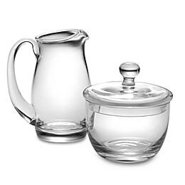Luigi Bormioli Michelangelo Masterpiece Glass Sugar and Creamer Set