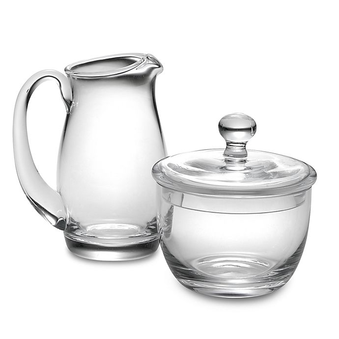 Alternate image 1 for Luigi Bormioli Michelangelo Masterpiece Glass Sugar and Creamer Set