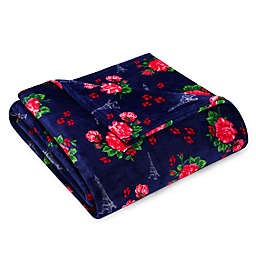 Betsey Johnson® French Floral Passport Blue Blanket
