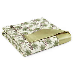 Micro Flannel® Pinecones All Seasons Reversible Blanket
