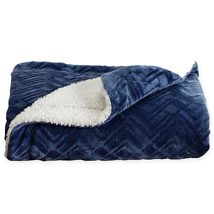 Berber And Velvet Plush Reversible Blanket Bed Bath Beyond