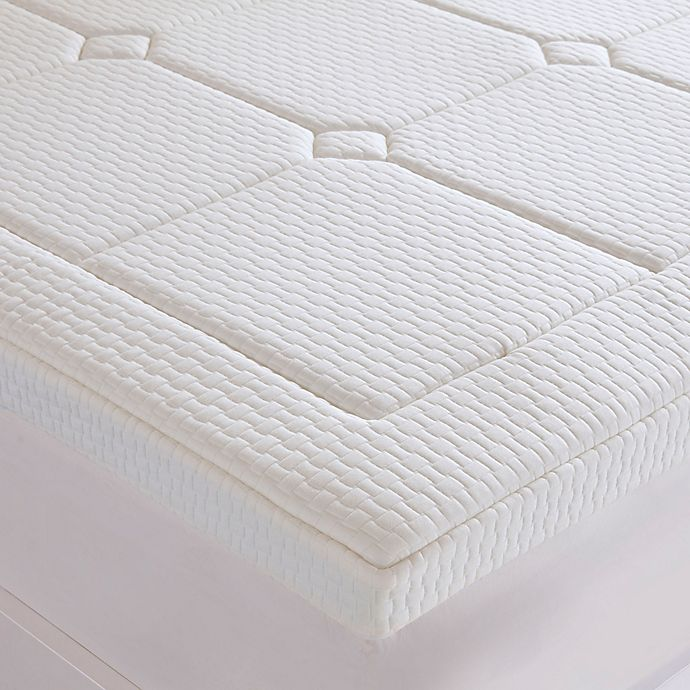 Alternate image 1 for Sleep Philosophy Flexapedic 3-Inch Deluxe Gel Memory Foam Mattress Topper