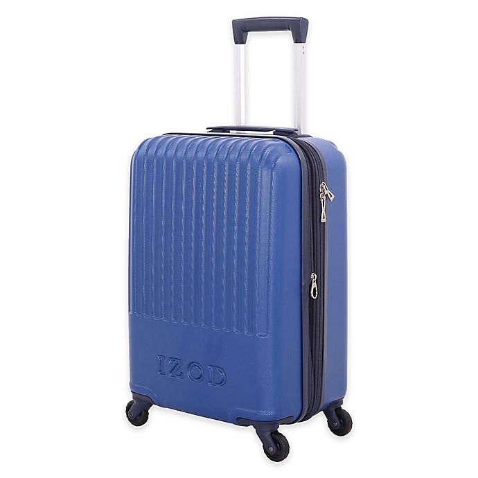 Alternate image 1 for IZOD® Dockside 20-Inch Hardside Spinner Carry On Luggage in Blue