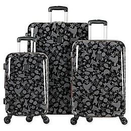 ED Ellen DeGeneres Laurel 3-Piece Hardside Spinner Luggage Set in Black/Grey