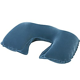 Pool Central 18-Inch Inflatable Travel Comfort Pillow in Grey