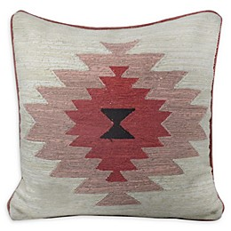 South West Symbol Square Throw Pillow in White