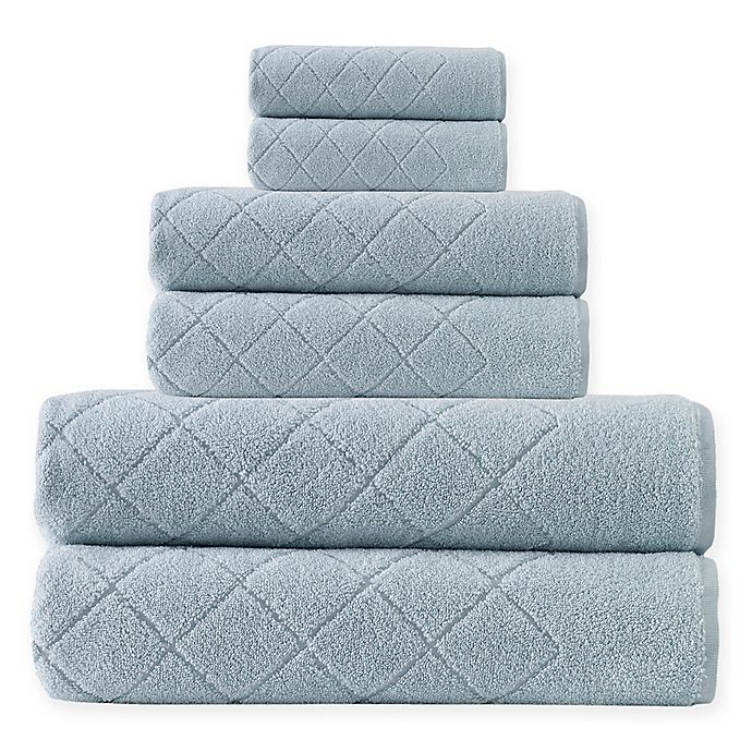 Alternate image 1 for Enchante Home® Gracious 6-Piece Turkish Cotton Towel Set in Green