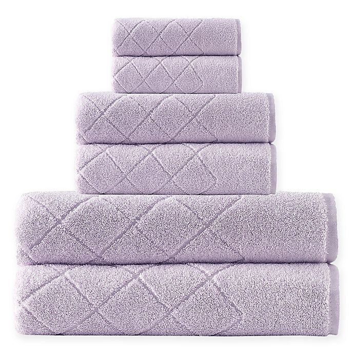 Alternate image 1 for Enchante Home® Gracious 6-Piece Turkish Cotton Towel Set in Lilac