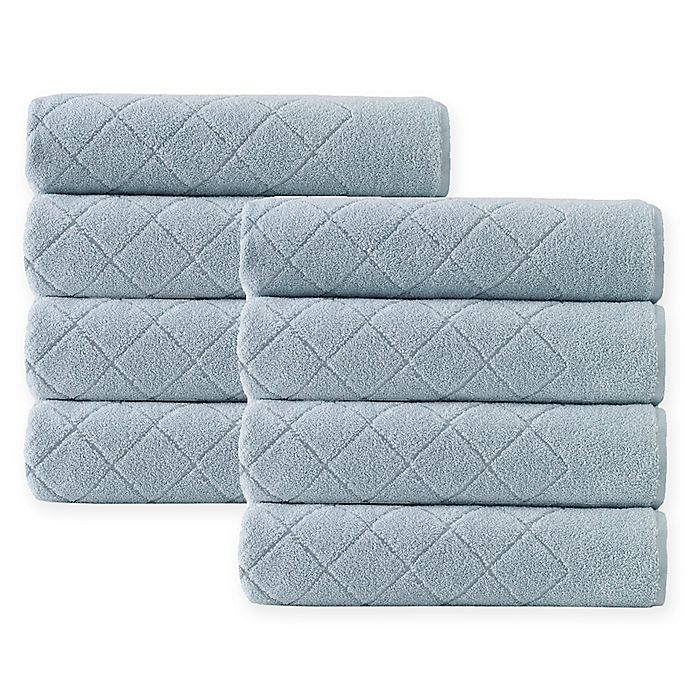 Alternate image 1 for Enchante Home® Gracious 8-Piece Turkish Cotton Hand Towel Set in Green