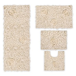 Bellflower 4-Piece Bath Rug Set