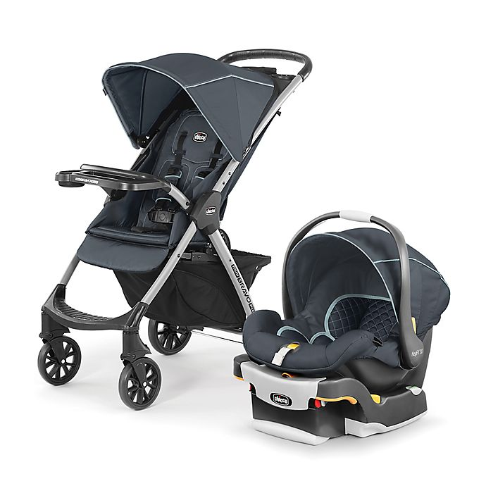 Alternate image 1 for Chicco® Mini Bravo® Plus Travel System in Midnight