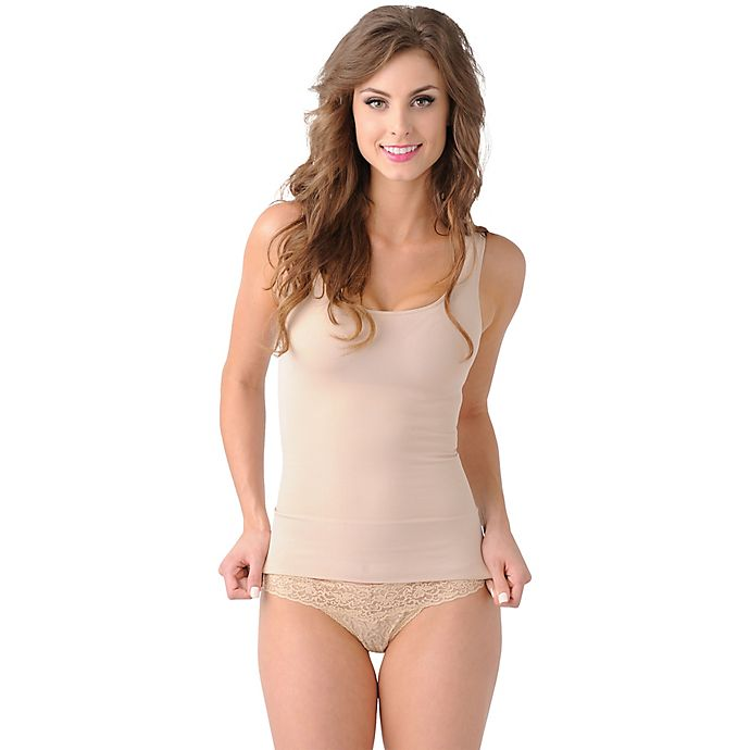 Alternate image 1 for Belly Bandit® Mother Tucker™ Size Large Compression Scoop Neck Tank in Nude