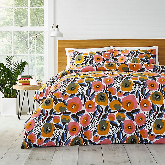 Alternate image 1 for Marimekko® Rosarium Full/Queen Comforter Set