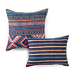 Azalea Skye® Kilim Stripe Embroidered Throw Pillows in Indigo (Set of 2)