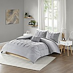 Intelligent Design Casey Jersey 4-Piece Full/Queen Comforter Set in Grey