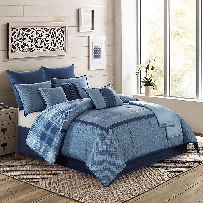 Alternate image 1 for Harlow 10-Piece King Comforter Set in Blue