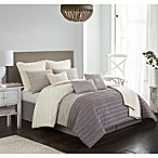 Carrington 10-Piece King Comforter Set in Taupe