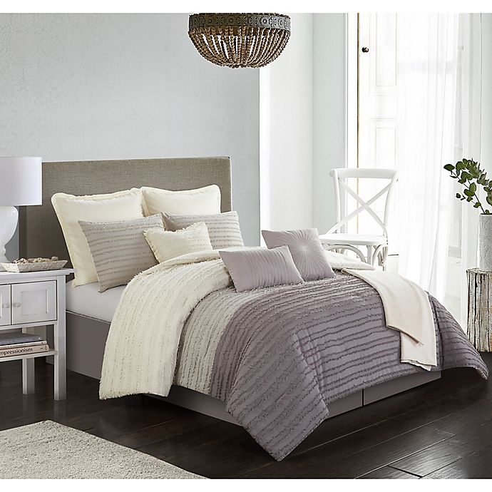 Alternate image 1 for Carrington 10-Piece Full Comforter Set in Taupe