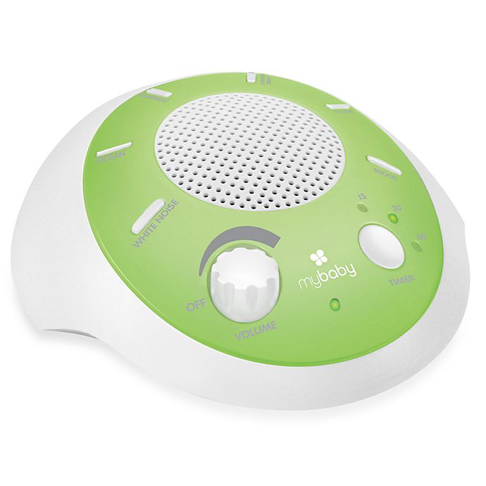 Alternate image 1 for HoMedics® My Baby Soundspa Portable Green & White Green