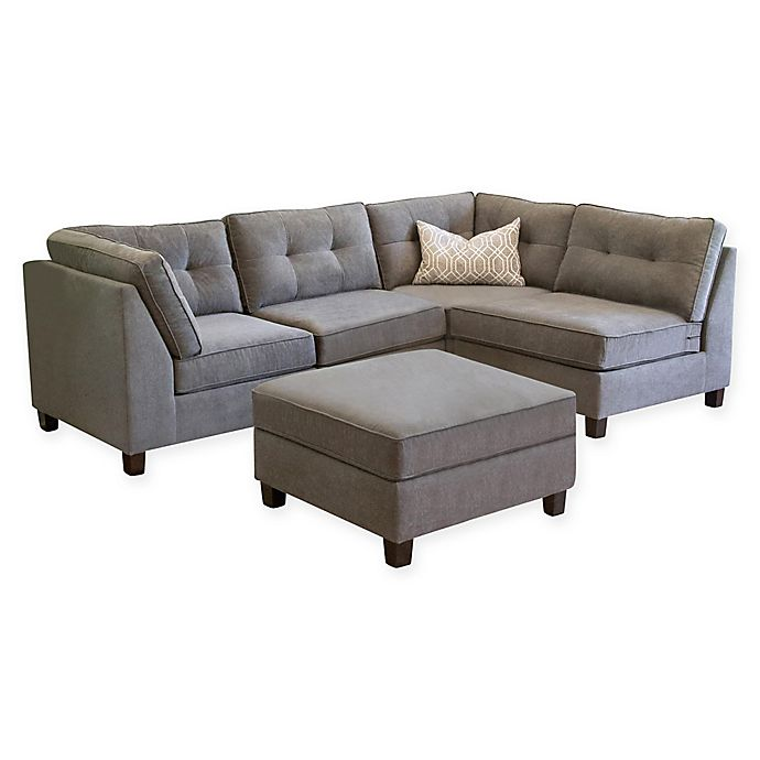 Pleasant Abbyson Living Amber 5 Piece Modular Sectional Sofa In Grey Forskolin Free Trial Chair Design Images Forskolin Free Trialorg