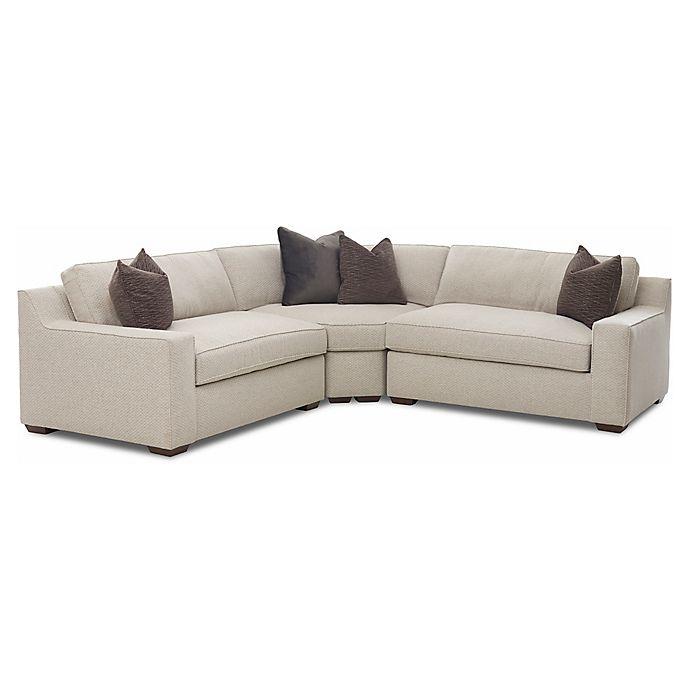 Klaussner®™ Upholstered Medium Firm Sofas in Grey(3 piece set)