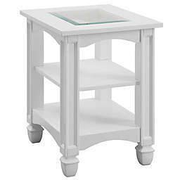 Coast to Coast Imports LLC® Bayside Chairside Table in White