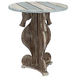 Coast to Coast Imports LLC™ Farmer Seahorse End Table in Brown/Blue