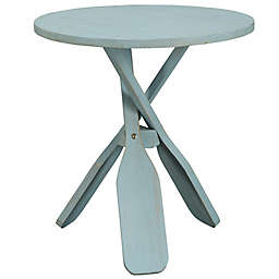Coast to Coast Imports LLC™ Wooden Oar Round Accent Table in Blue