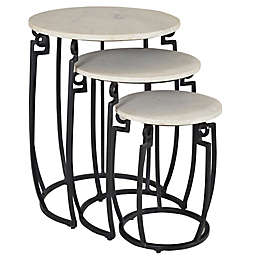 Coast to Coast Imports LLC™ Fairgate Nesting Tables in Black/White