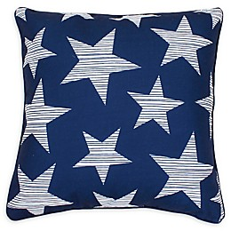 Thro Star Spangled Square Throw Pillow in Navy