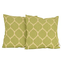Thro Ivana Ikat Square Throw Pillows (Set of 2)