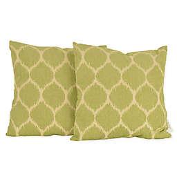 Thro Ivana Ikat Square Throw Pillows (Set of 2)